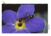 Ant With Pollen Enters Alpine Carry-all Pouch