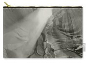 Antelope Canyon Light Black And White Carry-all Pouch