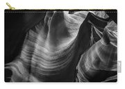 Antelope Canyon Waves Black And White Carry-all Pouch