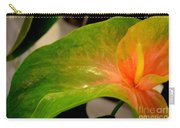 Anthurium In Red And Green Carry-all Pouch