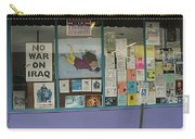 Anti-iraq War Posters 4th Avenue Book Store Window Tucson Arizona 2000 Carry-all Pouch by David Lee Guss