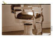 Antiquated Barber Chair In Sepia Carry-all Pouch