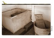 Antiquated Bathtub Washboard And Laundry Tub In Sepia Carry-all Pouch