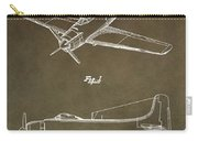 Antique Airplane Patent Carry-all Pouch