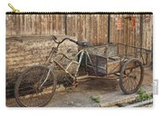 Antique Bicycle In The Town Of Daxu Carry-all Pouch