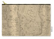 Antique Boston Map 1842 Carry-all Pouch