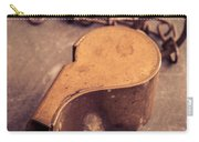 Antique Brass Military Whistle Carry-all Pouch
