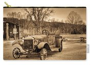 Antique Car At Service Station In Sepia Carry-all Pouch
