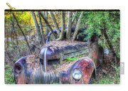 Antique Car With Trees In Windshield Carry-all Pouch