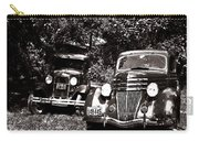 Antique Cars Black And White Carry-all Pouch