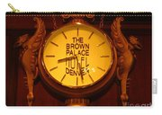 Antique Clock At The Bown Palace Hotel Carry-all Pouch
