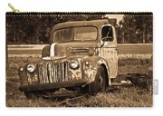 Antique Cut Bed Truck In Sepia Carry-all Pouch