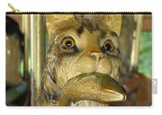 Antique Dentzel Menagerie Carousel Cat With Fish In Rochester New York Carry-all Pouch