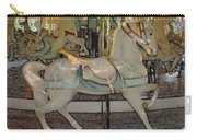 Antique Dentzel Menagerie Carousel Horse Colored Pencil Effect Carry-all Pouch by Rose Santuci-Sofranko
