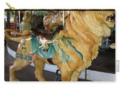 Antique Dentzel Menagerie Carousel Lion Carry-all Pouch by Rose Santuci-Sofranko