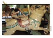 Antique Dentzel Menagerie Carousel Pigs Carry-all Pouch by Rose Santuci-Sofranko