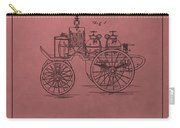 Antique Fire Engine Patent On Red Carry-all Pouch