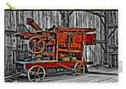 Antique Hay Baler Selective Color Carry-all Pouch