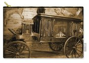 Antique Hearse As Tintype Carry-all Pouch by Crystal Loppie