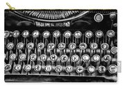 Antique Keyboard - Bw Carry-all Pouch