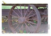 Antique Metal Wheel Carry-all Pouch