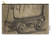 Antique Mining Trolley Patent Carry-all Pouch