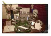 Antique Oliver Typewriter On Old West Physician Desk Carry-all Pouch by Janice Rae Pariza