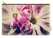 Antique Pink And White Daisies Carry-all Pouch