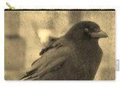 Antique Sepia Crow Carry-all Pouch