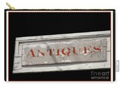 Antique Sign Carry-all Pouch