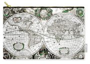 Antique World Map Poster Carry-all Pouch