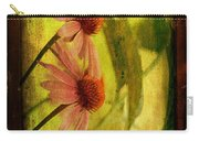 Antiqued Cone Flowers Carry-all Pouch