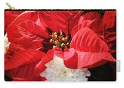Antiqued Poinsettia Carry-all Pouch