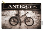Antiques And The Old Bike Carry-all Pouch by Bob Orsillo