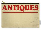 Antiques Sign Carry-all Pouch