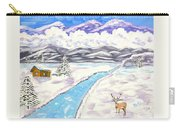 Antlers And Snow Carry-all Pouch