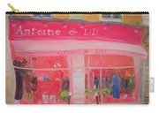 Antoine & Lili, 2010 Oil On Canvas Carry-all Pouch