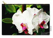 Aos White Orchid 2 Carry-all Pouch