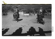 Apache Roping Cow Labor Day Rodeo White River Arizona 1969 Carry-all Pouch
