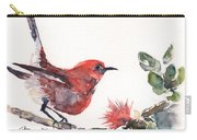Apapane - Native Hawaiian Bird Carry-all Pouch