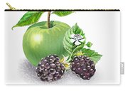 Apple And Blackberries Carry-all Pouch