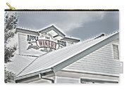 Apple Barn Winery Sign In Grayscale Carry-all Pouch