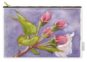 Apple Blossom Buds Carry-all Pouch