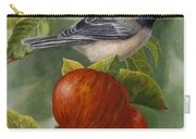 Apple Chickadee Greeting Card 2 Carry-all Pouch
