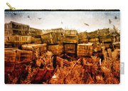 Apple Crates And Crows Carry-all Pouch by Bob Orsillo