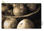 Apple Still Life Black And White Carry-all Pouch