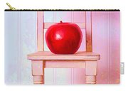 Apple Still Life With Doll Chair Carry-all Pouch by Edward Fielding