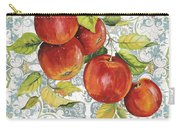 Apples On Damask Carry-all Pouch