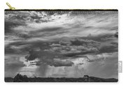 Approaching Storm Black And White Carry-all Pouch by Douglas Barnard