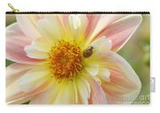 April Heather Dahlia With Ladybug Carry-all Pouch